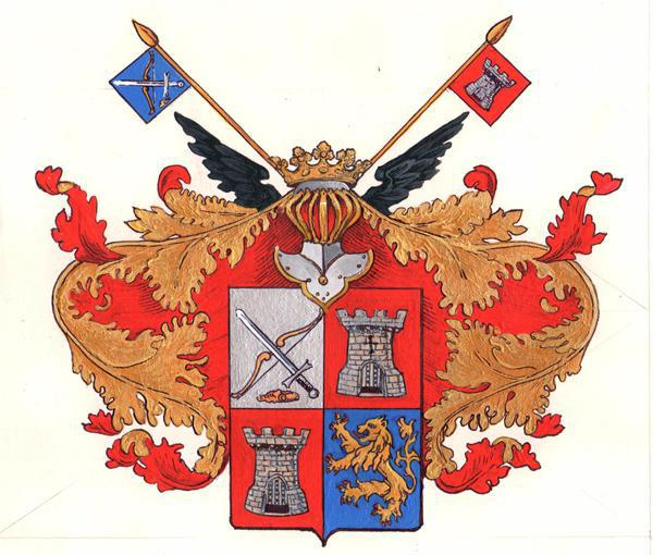 Simon Kozhin. Coat of arms nobles Kozhin.