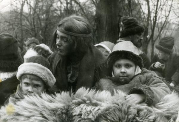 Семён Кожин. На сьёмках Исторического фильма в 1986 году с актрисой Яковлевой Мариной Александровной.