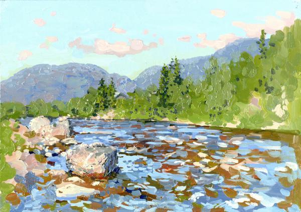 Семён Кожин. Река Колвица.