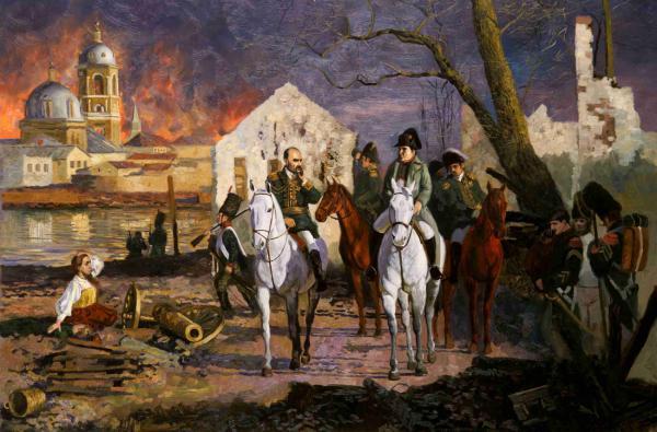 Семён Кожин. Наполеон Бонапарт в горящей Москве.