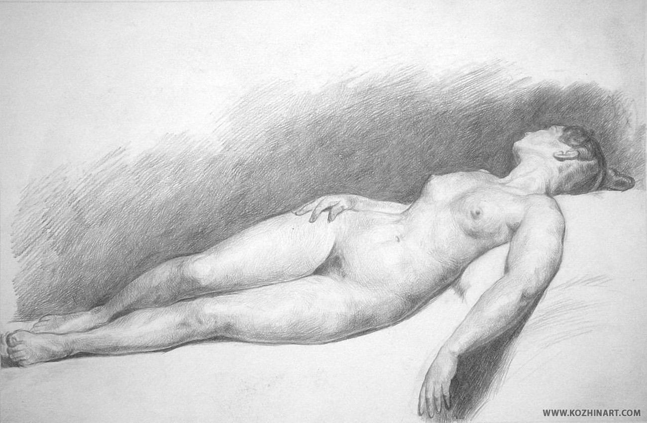 Рисунки голых натурщиц 13 фотография
