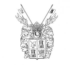 Simon Kozhin. Generic coat of arms nobility Kozhin