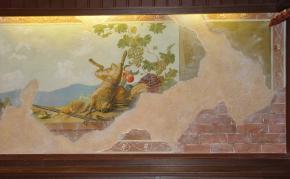 Simon Kozhin. Fresco with hunting still life.
