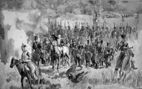 Семён Кожин. Контратака Генерала-майора А.П. Ермолова на батарею Раевского. Бородинская битва.