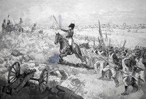 Simon Kozhin. The counterattack Major-General AP Ermolov to the battery Rajewski. The Battle of Borodino.