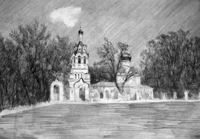 Simon Kozhin. The Temple Ilia the Prophet (Exaltation of the Holy Cross) in Cherkizovo.