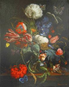 "Simon Kozhin. Copy by Yan Davids de Heem ""Vase of flouwers""."