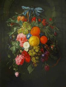 "Simon Kozhin. Imitation of Cornelius De Heem"" Still Life with Flowers""."