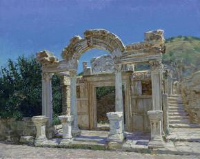 Simon Kozhin. Ephesus. Ruins. Temple of Hadrian.