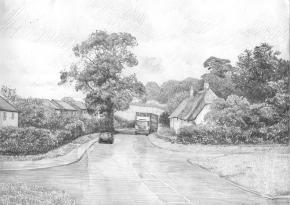 Simon Kozhin. English village.
