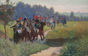 Семён Кожин. Бегство Наполеона от Казаков.