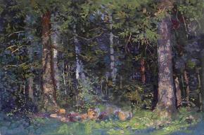 Семён Кожин. Еловый лес.