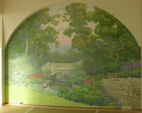 Simon Kozhin. Fresco. Garden.