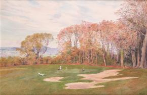 Simon Kozhin. Powerscourt Estate. Playing Golf.
