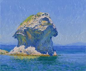 Simon Kozhin. Mushroom. Lacco Ameno. Ischia. Italy.  2013. Oil on canvas on cardboard. 25 x 30 cm.