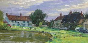 Simon Kozhin. Haddenham. Buckingham shire. Village pond.