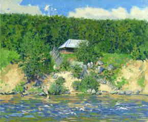 Simon Kozhin. Bath-house by the river. Kolvica's village.