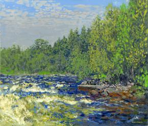 Simon Kozhin. Kolvica's river.