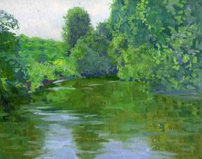 Семён Кожин. На реке летом. Парк Кузьминки.