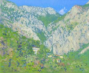 Семён Кожин. Каньон в Сутоморе. Черногория. 2014. Холст на картине, масло. 25 х 30 см.