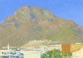 Simon Kozhin. Costa Adeje. Canary Islands. Tenerife. Spain. 2013. Oil on canvas on cardboard, oil. 25 x 35 cm.