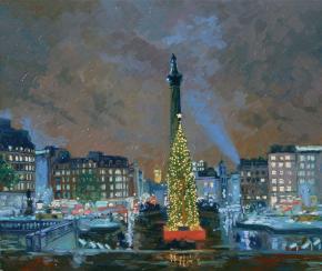 Simon Kozhin. Trafalgar Square at New Year.