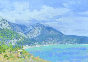 Simon Kozhin. The sky clouds over. Sutomore. Montenegro. 2014. Oil on canvas. 25 x 35 cm.