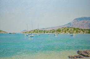 Simon Kozhin. Symi. Greece. 2014. Oil on canvas. 60 x 90 cm.