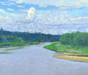 Simon Kozhin. Clouds above the river Luh.