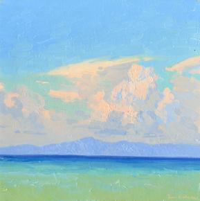 Simon Kozhin. The clouds. Rhodes. Greece. 2014. Canvas on cardboard, oil. 30 x 30 cm.