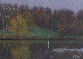Семён Кожин. Осень у пруда в Кузьминках.