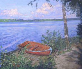 Семён Кожин. Лодка. Плёс.