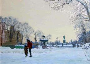 Simon Kozhin. Pushkinskaya Square. To School.