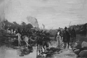 Simon Kozhin. Rubicon. Crossing the River by Denis Davydov Squadron.