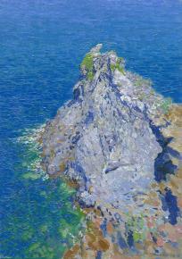 Simon Kozhin. Rocks Dizaro. Forio. Ischia. Italy. 2013. Oil on canvas on cardboard, oil. 35 x 25 cm.