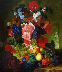 "Simon Kozhin. Imitation of Flemish Painting ""Still Life with Flowers""."