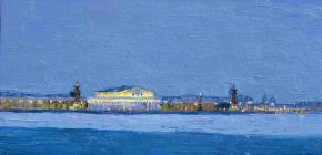Simon Kozhin. St. Petersburg. The Spit of Vasilievsky Island.