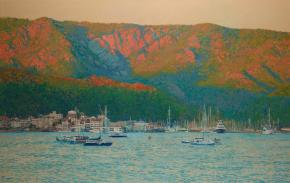 Simon Kozhin. Evening in Marmaris. Turkey. 2014 Oil on canvas. 70 x 110 cm.