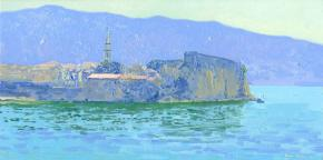 Simon Kozhin. View of the citadel. Budva.