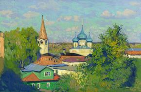 Simon Kozhin. View of the Annunciation Cathedral.