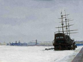 Simon Kozhin. View oView of the Neva and the Spit of Vasilievsky Island.f the Neva and the Spit of Vasilievsky Island.