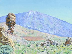 Simon Kozhin. Teide volcano. Canary Islands. Tenerife. Spain. 2013. Oil on canvas on cardboard, oil. 30 x 40 cm.