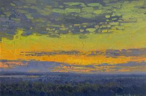 Simon Kozhin. Sunset. Gorokhovets