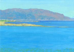 Simon Kozhin. Joseph Hatzidakis Bay. Malia. Crete. In 2012. Canvas on cardboard, oil. 25 x 35 cm.