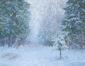 Simon Kozhin. Winter forest.